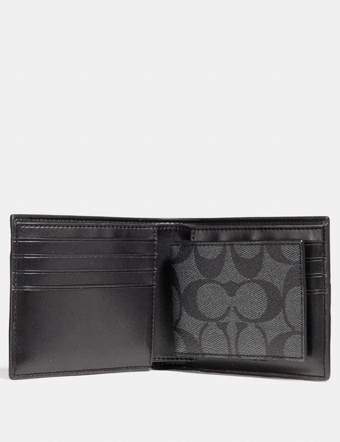Coach 3-In-1 Wallet in Signature Canvas With Varsity Stripe Midnight Nvy/Denim/Chalk  Alternate View 1