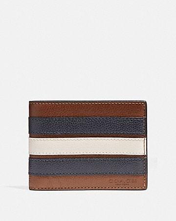 slim billfold wallet with varsity stripe