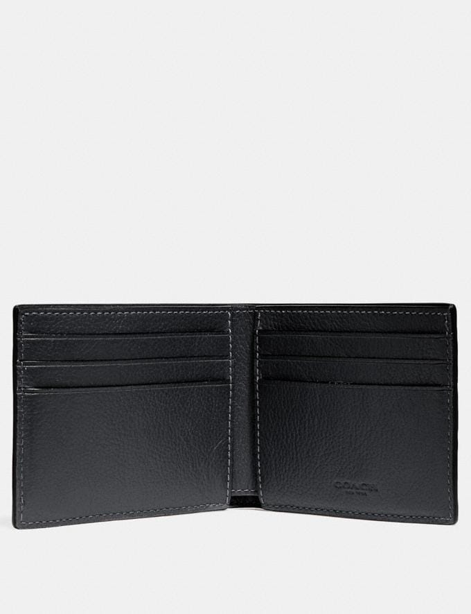 Coach Slim Billfold Wallet With Varsity Stripe Black/Denim/Midnight Nvy Explore Men Explore Men Wallets Alternate View 1