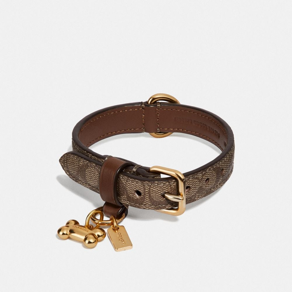 SMALL PET COLLAR IN SIGNATURE CROSSGRAIN LEATHER