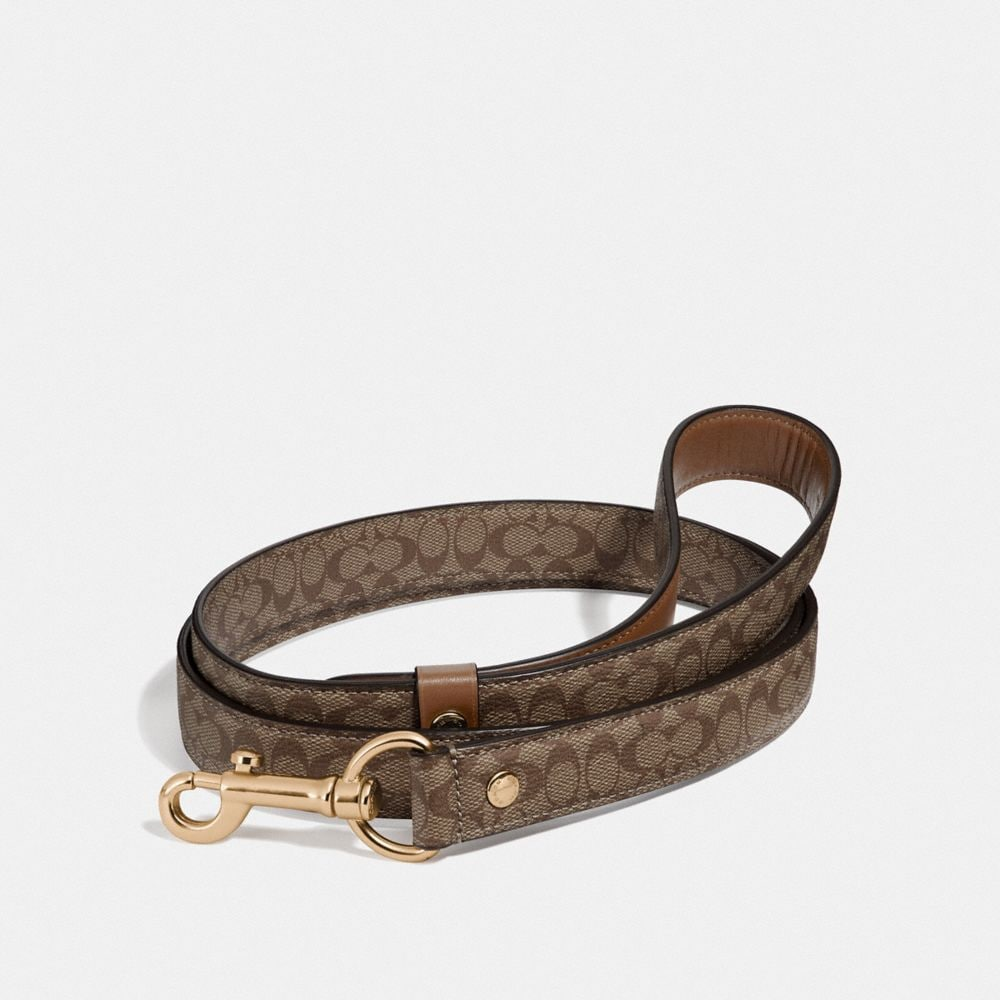 Coach Large Pet Leash in Signature Crossgrain Leather