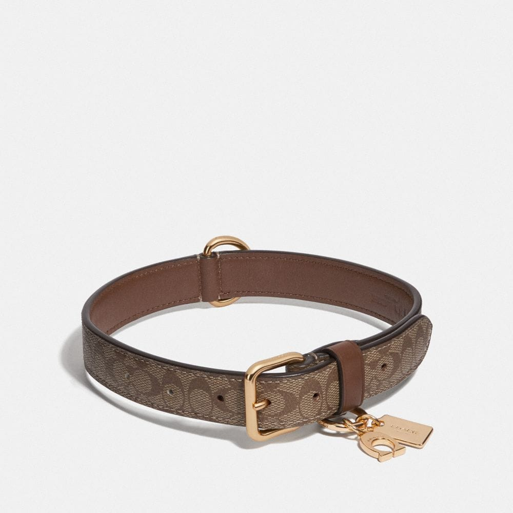 Coach Large Pet Collar in Signature Crossgrain Leather