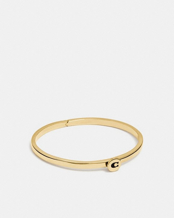 Coach SIGNATURE HINGED BANGLE