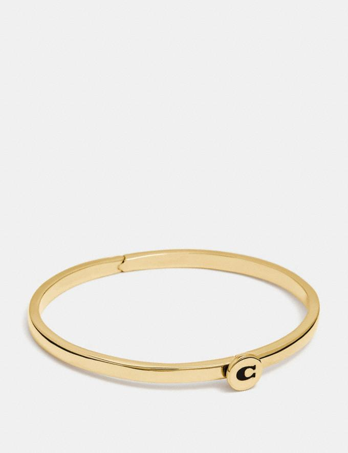 Coach Signature Hinged Bangle Gold