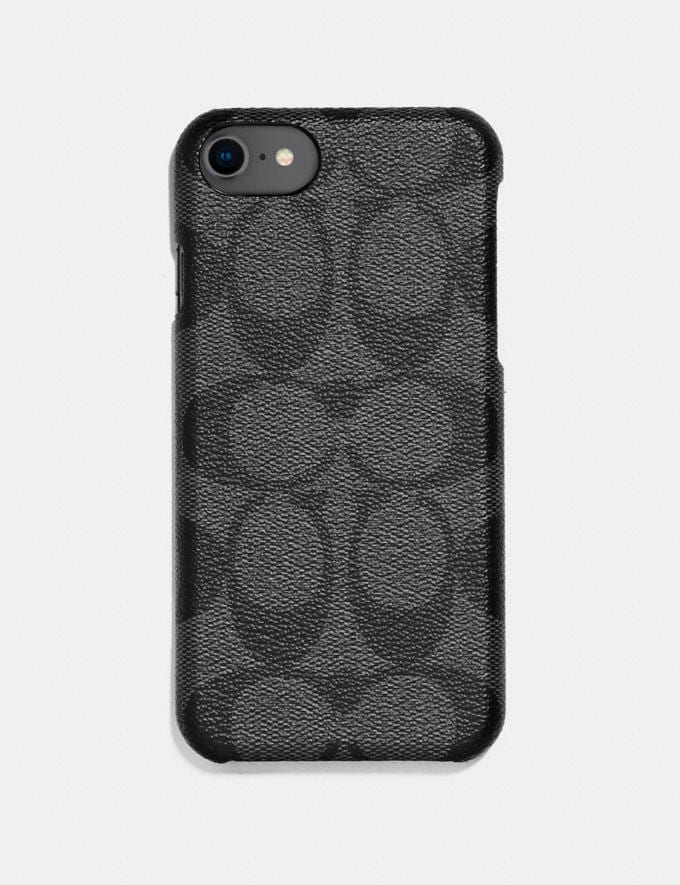 Coach iPhone 6s/7/8/X/Xs Case in Signature Canvas Grey