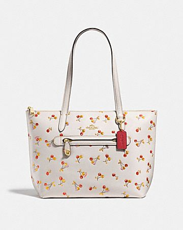 TAYLOR TOTE WITH CHERRY PRINT