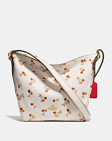 SMALL DUFFLETTE WITH CHERRY PRINT