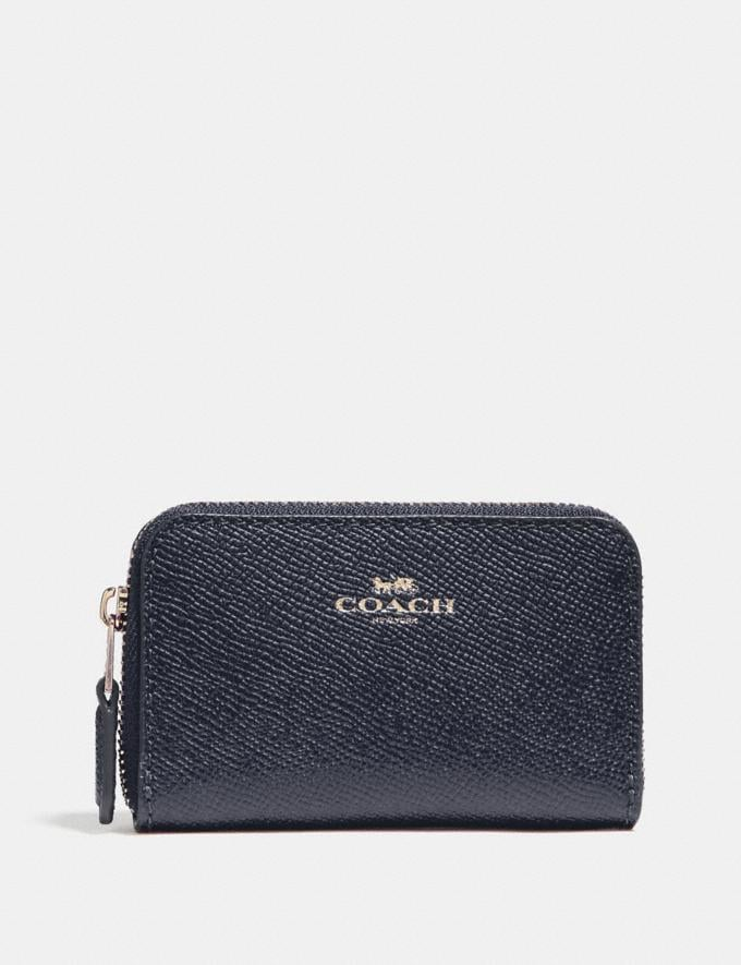 Coach Zip Around Coin Case Midnight/Light Gold DEFAULT_CATEGORY