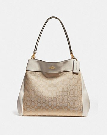 LEXY SHOULDER BAG IN SIGNATURE JACQUARD