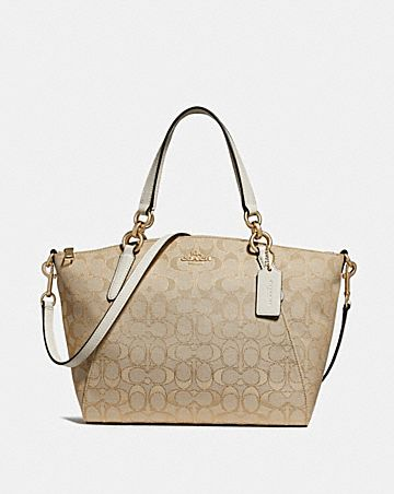 SMALL KELSEY SATCHEL IN SIGNATURE JACQUARD