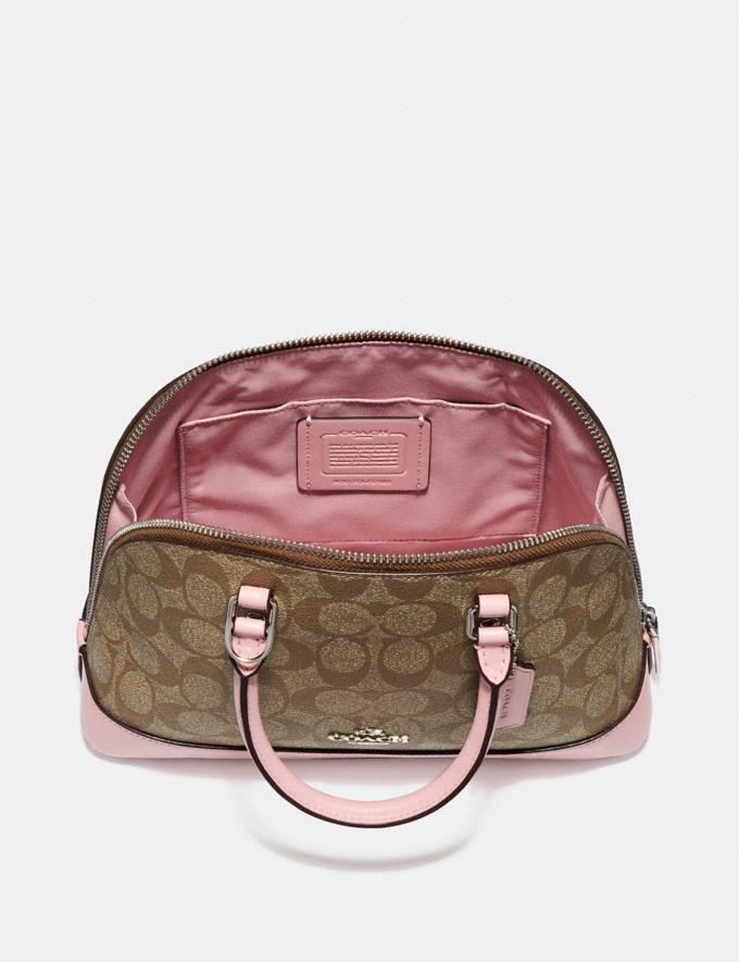Coach Mini Sierra Satchel in Signature Canvas Khaki/Saddle 2/Light Gold  Alternate View 1
