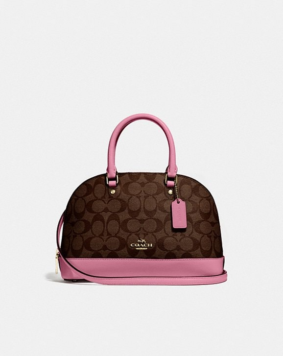 Coach MINI SIERRA SATCHEL IN SIGNATURE CANVAS
