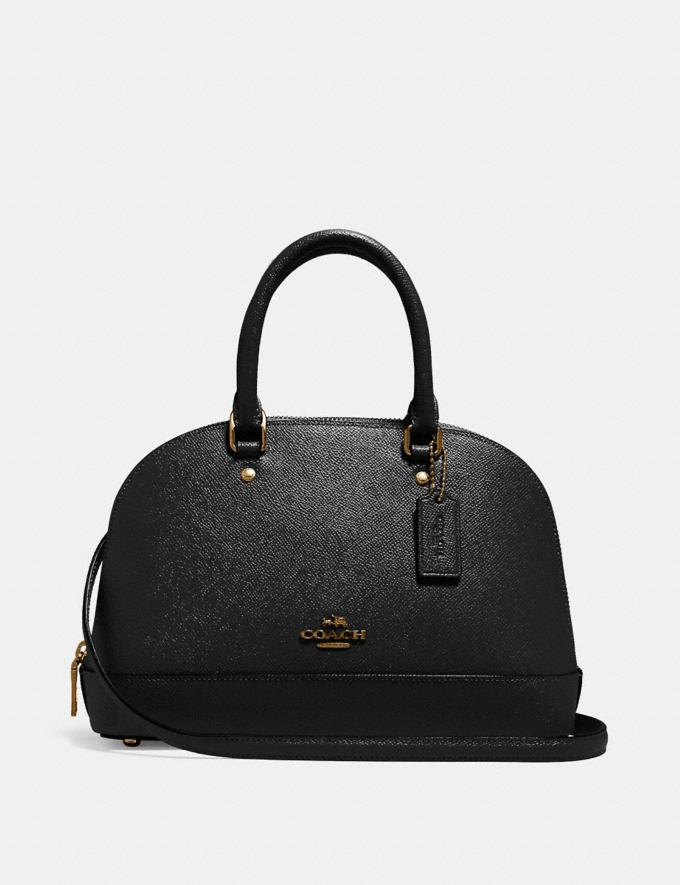 Coach Mini Sierra Satchel Black/Light Gold