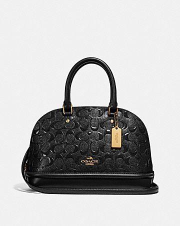 mini sierra satchel in signature leather