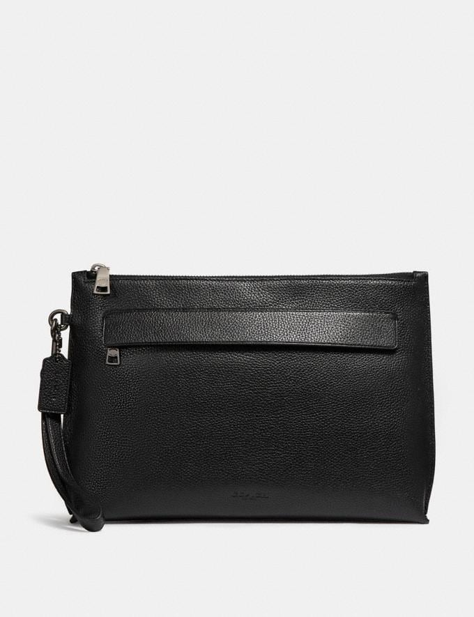 Coach Carryall Pouch Black