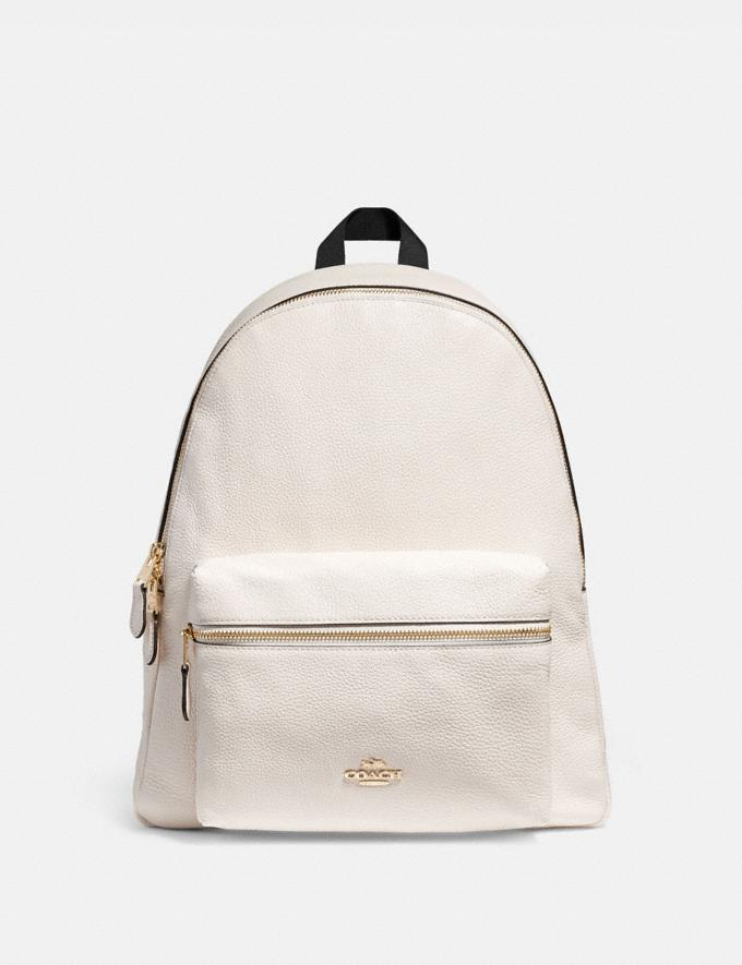 Coach Charlie Backpack Chalk/Light Gold
