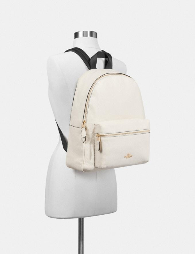Coach Charlie Backpack Chalk/Light Gold  Alternate View 2