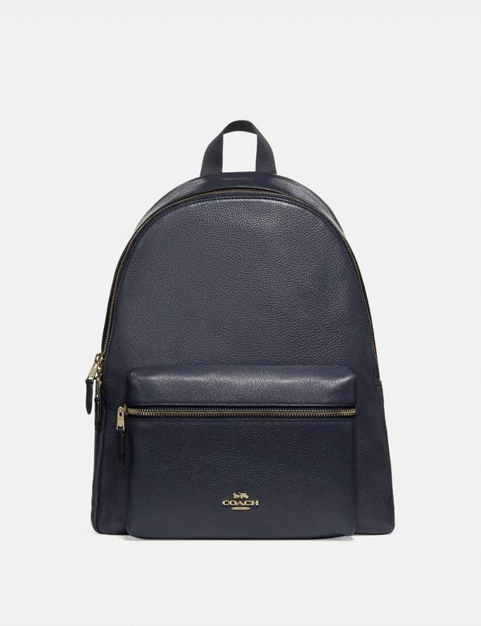 Coach Charlie Backpack Midnight/Gold
