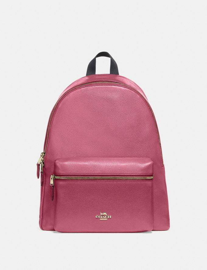 Coach Charlie Backpack Rouge/Gold Explore Bags Bags Backpacks