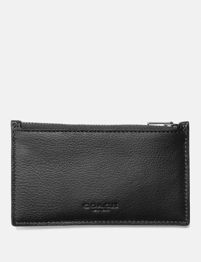 Coach Zip Card Case Black Explore Men Explore Men Wallets