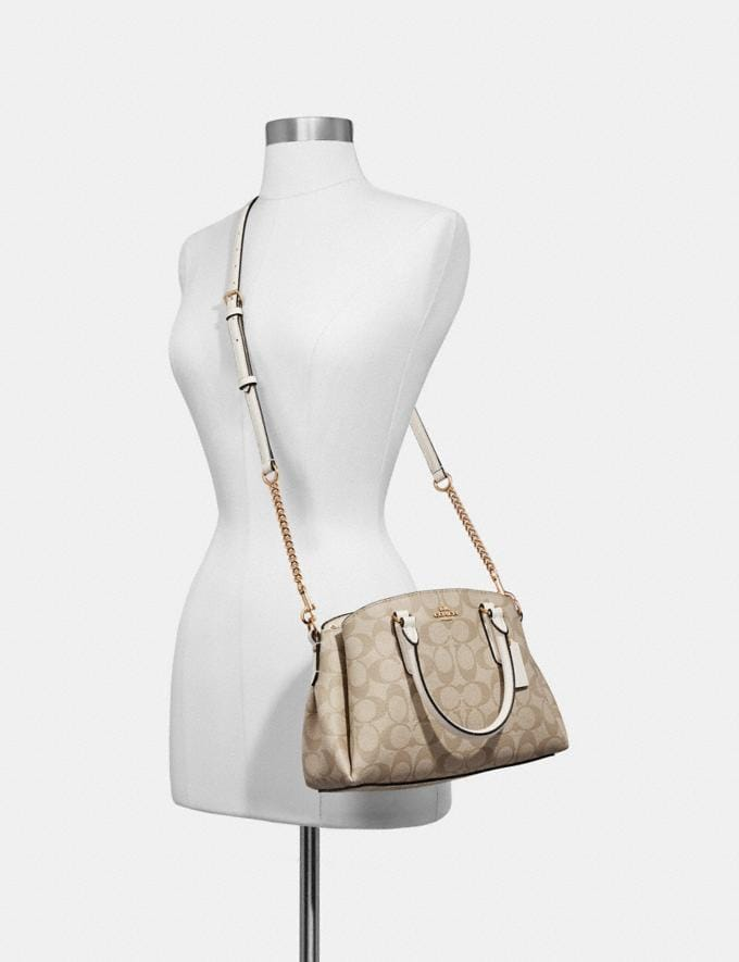 Coach Mini Sage Carryall in Signature Canvas Light Khaki/Seafoam/Silver Clearance Bags Alternate View 2