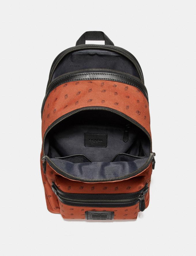 Coach Academy Backpack With Dot Diamond Print Mw/Black/Chalk  Alternate View 1