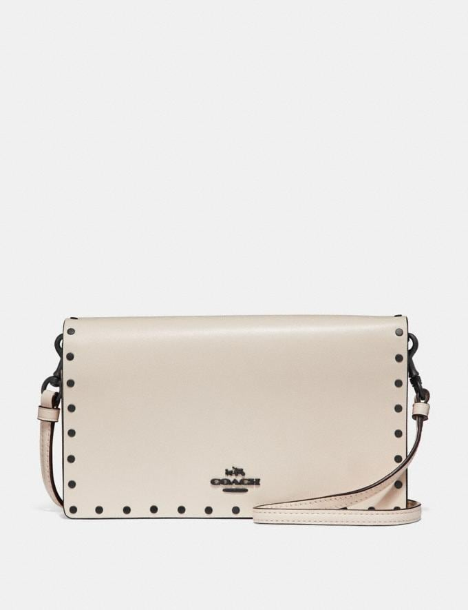 Coach Hayden Foldover Crossbody Clutch With Rivets Chalk/Black Copper