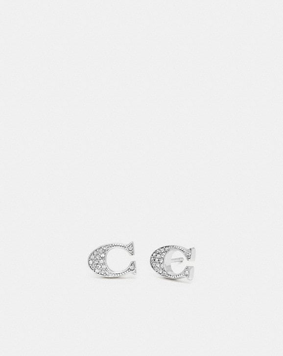 Coach SIGNATURE STUD EARRINGS