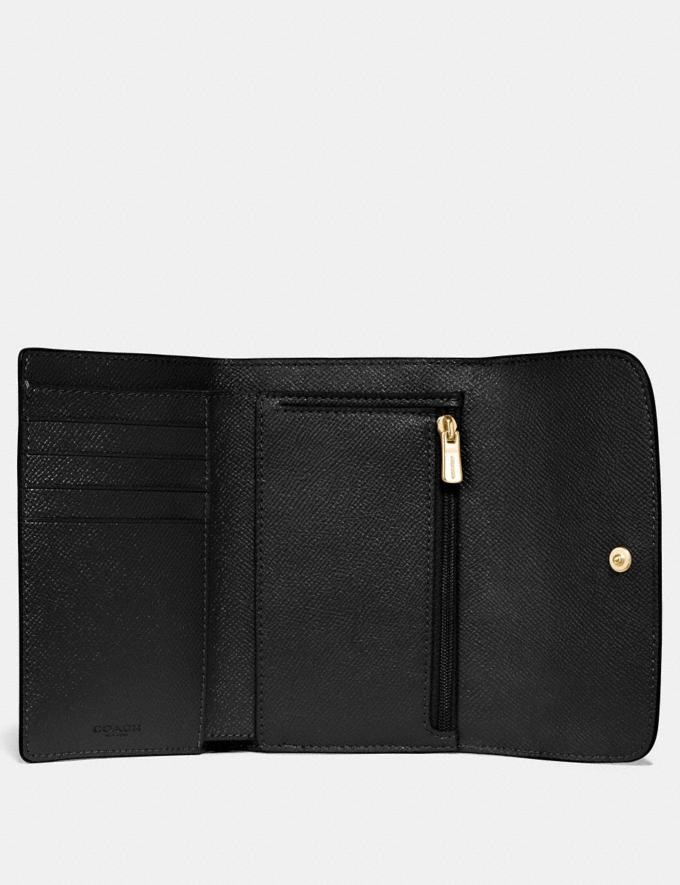 Coach Medium Envelope Wallet Black/Light Gold Explore Women Explore Women Wallets Alternate View 1
