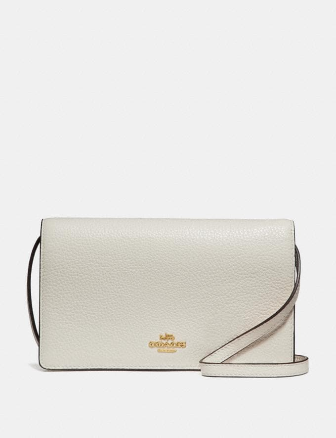 Coach Hayden Foldover Crossbody Clutch Chalk/Light Gold 70% Off Steals
