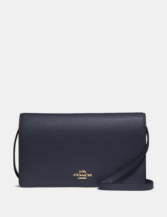 Coach Hayden Foldover Crossbody Clutch Midnight/Gold Bags Clutches
