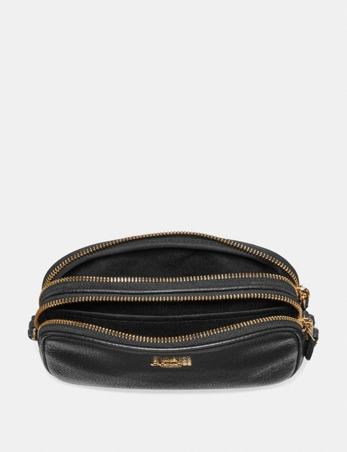 Coach Crossbody Pouch Black/Gold  Alternate View 1