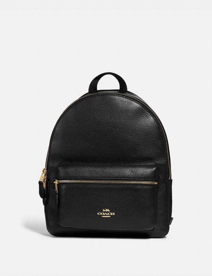 Coach Medium Charlie Backpack Black/Light Gold Bags Bags Backpacks