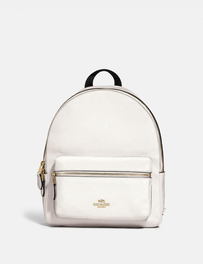 Coach Medium Charlie Backpack Chalk/Light Gold DEFAULT_CATEGORY