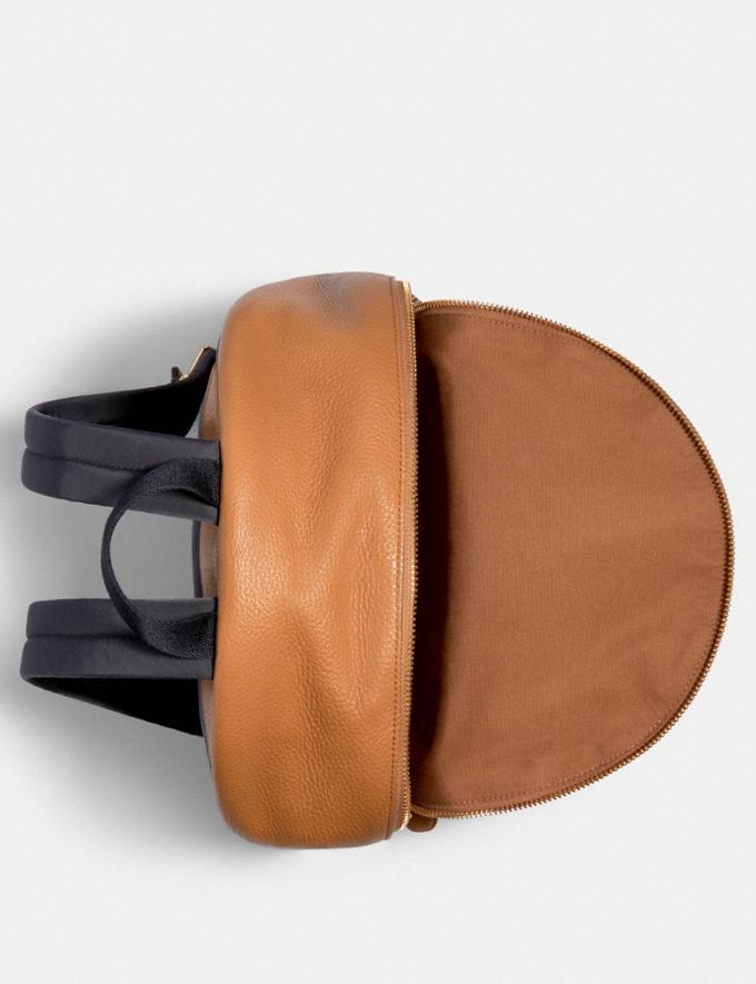 Coach Medium Charlie Backpack Light Saddle/Light Gold Explore Women Explore Women Alternate View 1
