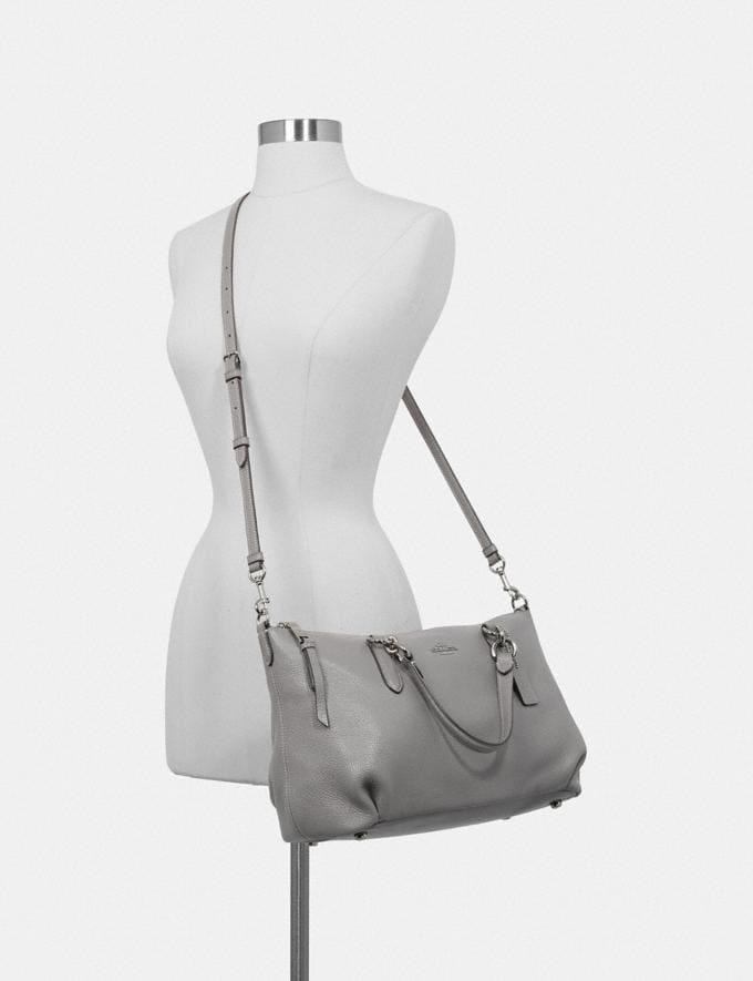 Coach Ally Satchel Black/Light Gold Women Bags Alternate View 2