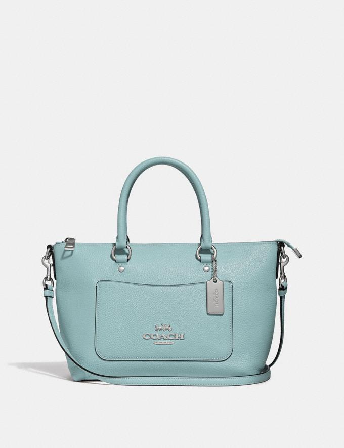Coach Mini Emma Satchel Seafoam/Silver Explore Bags Bags Satchels