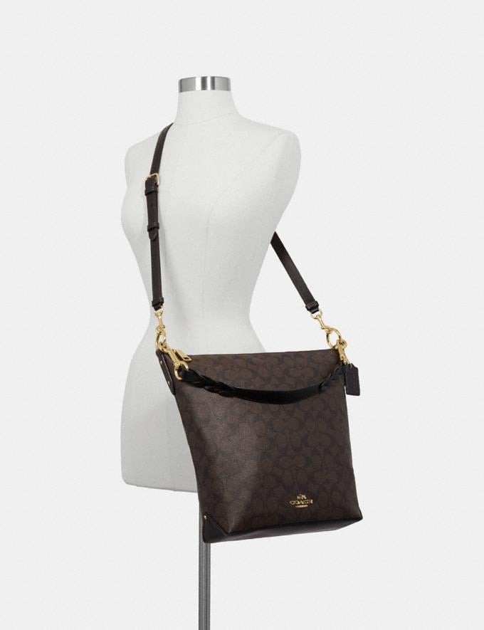 Coach Abby Duffle in Signature Canvas Brown/Black/Light Gold Explore Bags Bags Shoulder Bags Alternate View 2