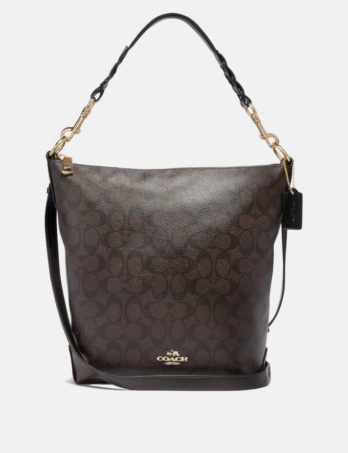 Coach Abby Duffle in Signature Canvas Brown/Black/Light Gold Explore Bags Bags Shoulder Bags