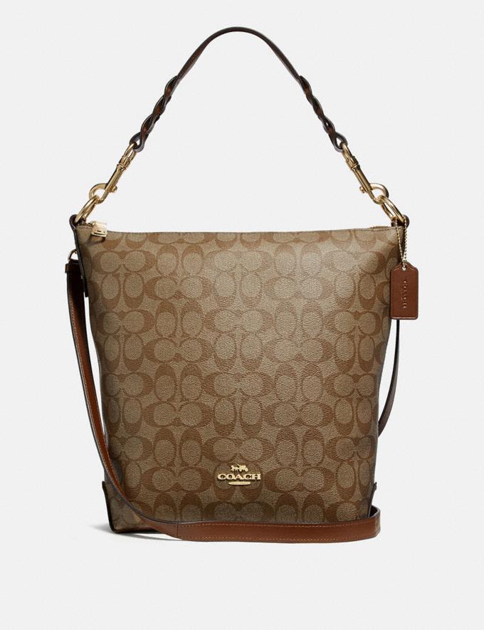 Coach Abby Duffle in Signature Canvas Khaki/Saddle 2/Light Gold Explore Bags Bags Shoulder Bags