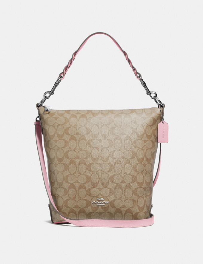 Coach Abby Duffle in Signature Canvas Light Khaki/Carnation/Silver Explore Bags Bags Shoulder Bags