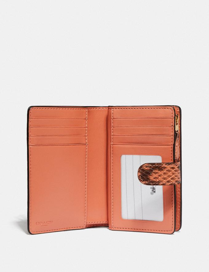 Coach Medium Corner Zip Wallet in Colorblock Signature Canvas Light Coral/Multi/Gold  Alternate View 1