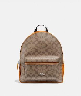 MEDIUM CHARLIE BACKPACK IN SIGNATURE CANVAS