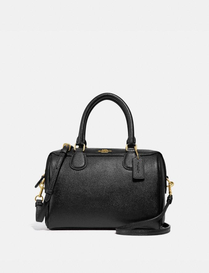 Coach Mini Bennett Satchel Black/Light Gold