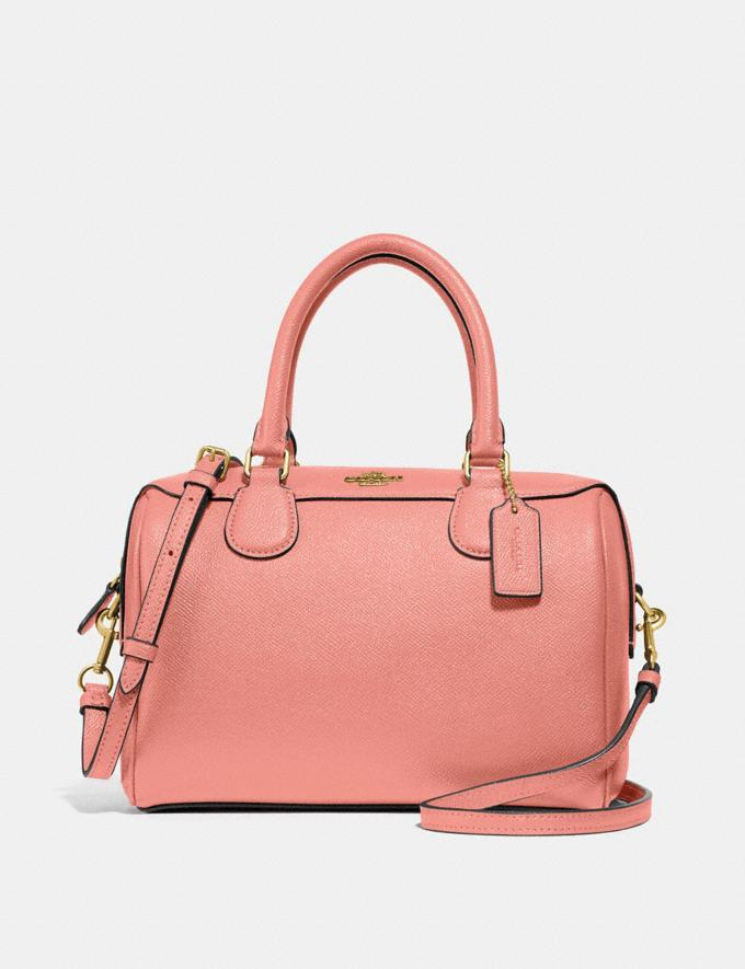 Coach Mini Bennett Satchel Light Coral/Gold Explore Bags Bags Satchels