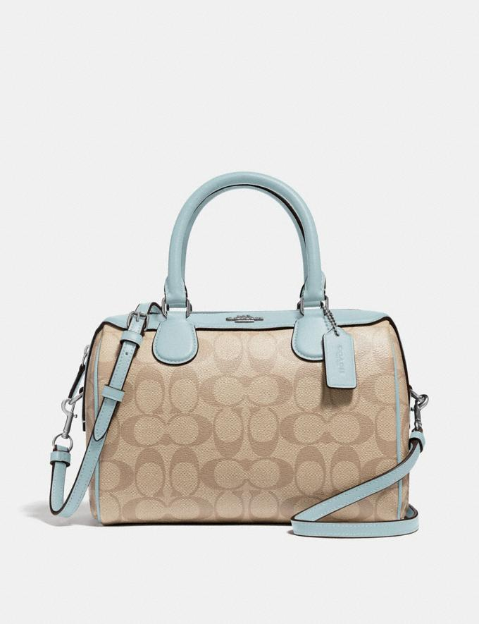 Coach Mini Bennett Satchel in Signature Canvas Light Khaki/Seafoam/Silver Explore Bags Bags Crossbody Bags