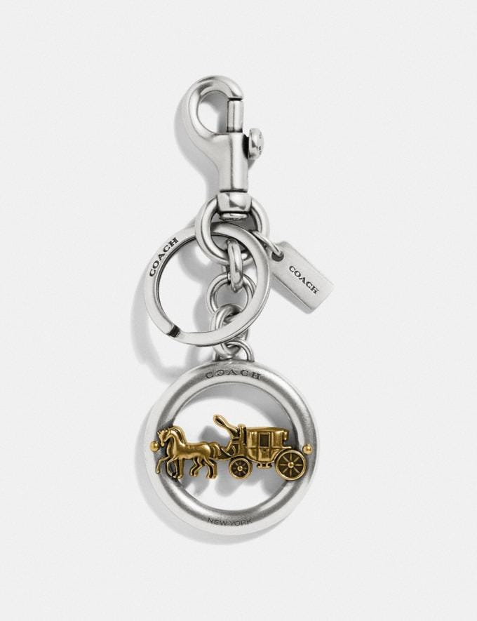 Coach Horse and Carriage Pendant Bag Charm Silver/Gold