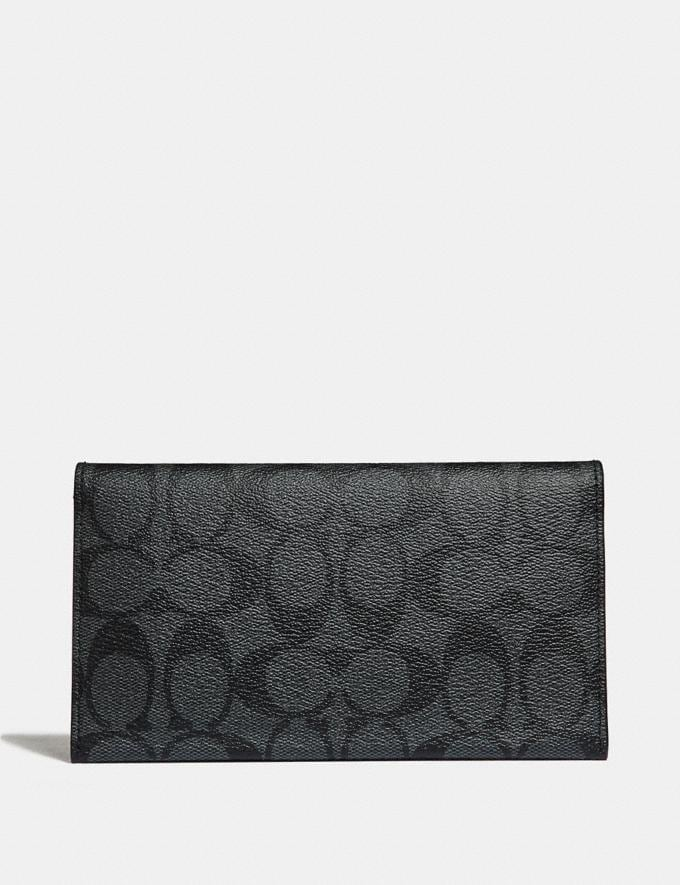 Coach Large Universal Phone Case in Signature Canvas Charcoal/Black/Black Antique Nickel