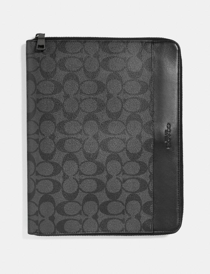 Coach Tech Case in Signature Canvas Charcoal/Black