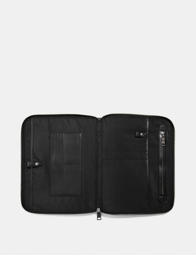 Coach Tech Case in Signature Canvas Charcoal/Black  Alternate View 1